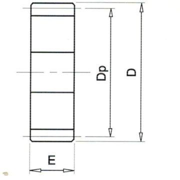 Bánh răng trụ modul M1 (không gù)